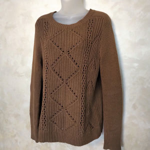 Old Navy Brown Cotton Blend Sweater EUC M